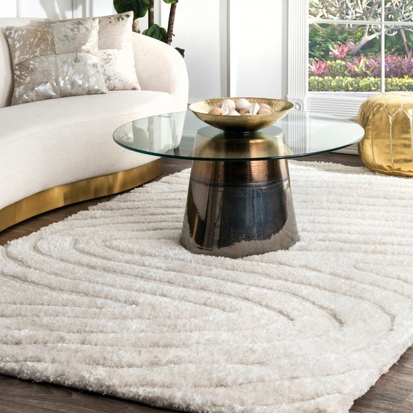 Cosy Textured Wool Rug: Shop NuLOOM Handmade Cozy Soft Contemporary Textured Shag