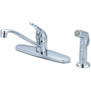 Elite Single Handle Kitchen Faucet with Spray and Flex Supply Lines