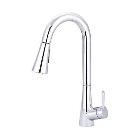 i2 Single Handle Pull-Down Kitchen Faucet with Bell Shaped Sprayer