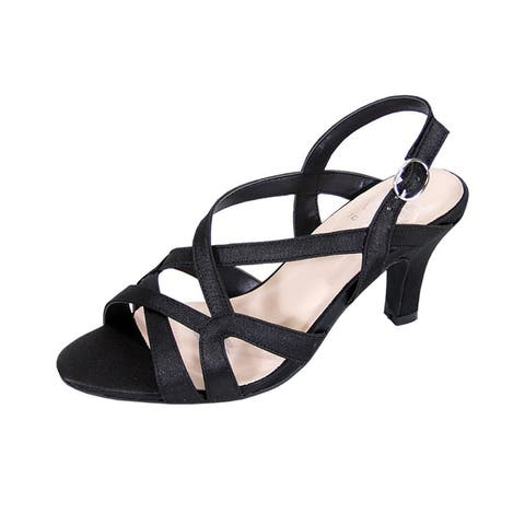 FLORAL Charlotte Women's Wide Width Strappy Dress Heeled Sandals