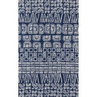 Momeni Veranda Navy Handmade Indoor/Outdoor Area Rug - 8' x 10'