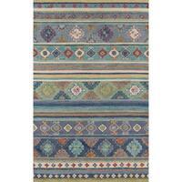 Momeni Tangier Handmade Blue Wool Area Rug - 8' x 11'