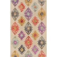 "Momeni Tangier Wool Handmade Beige Area Rug - 7'6"" x 9'6"""