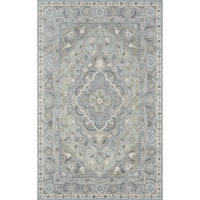 """Momeni Tangier Wool Hand Tufted Blue Area Rug - 7'6"""" x 9'6"""""""