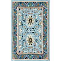 Momeni Veranda Blue/Multicolor Handmade Outdoor Area Rug - 8' x 10'