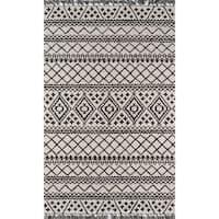Momeni Tahoe Grey Handmade Wool Area Rug - 7'6 x 9'6