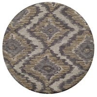 Momeni Heavenly Polyester Hand Tufted Grey Area Rug - 4' x 4'