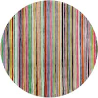 Momeni New Wave Handmade Multi Wool Area Rug - 5'9 Round