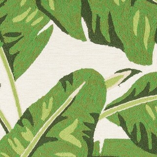 Momeni Veranda Polypropylene Hand Hooked Green Indoor Outdoor Rug - 5' x 8'