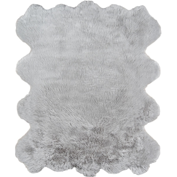 Momeni Sable Faux Fur Acrylic and Polyester Machine Made Area Rug