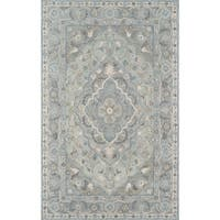 Momeni Tangier Wool Hand Tufted Blue Area Rug - 5' x 8'