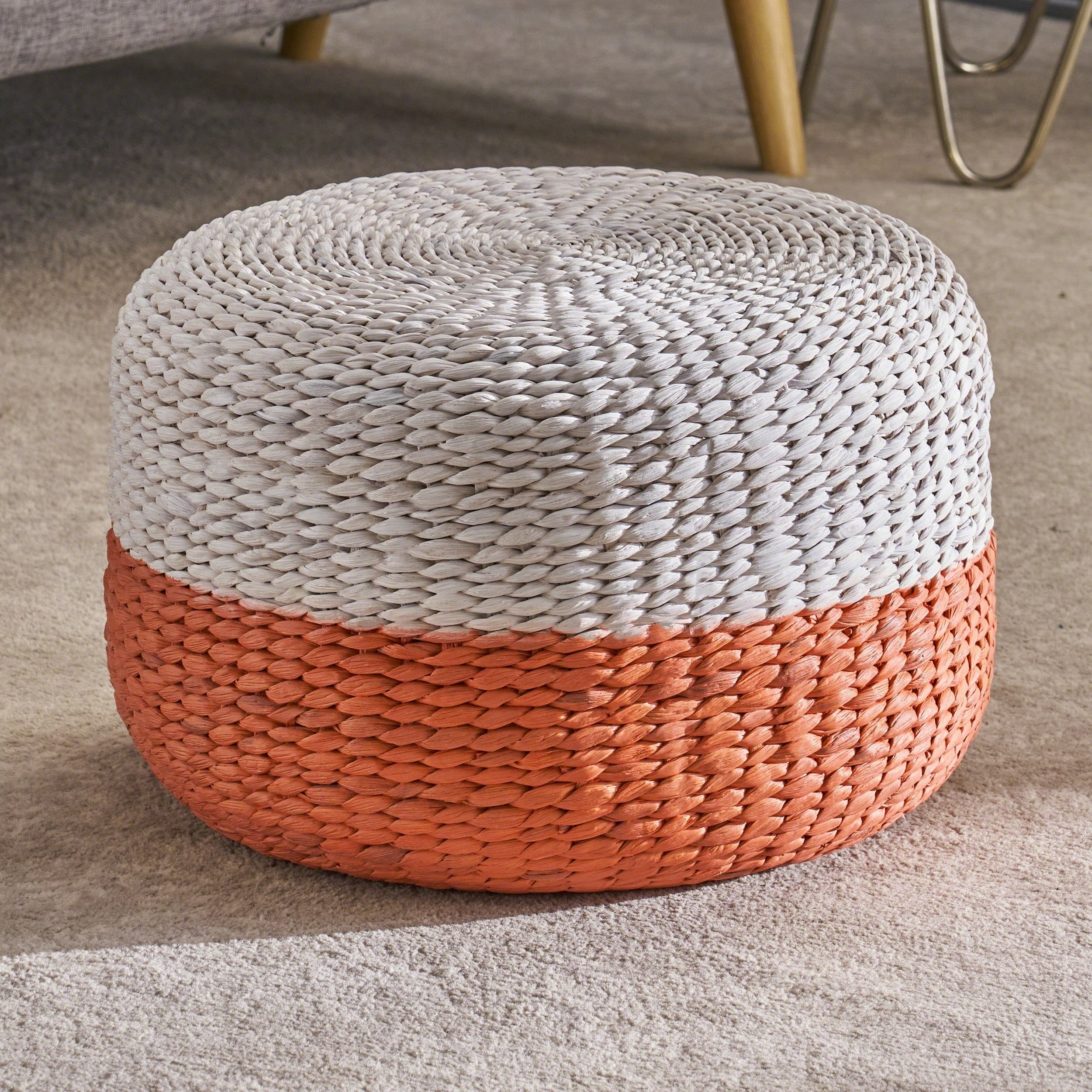 Admirable Stedman Water Hyacinth Foot Stool By Christopher Knight Home Pabps2019 Chair Design Images Pabps2019Com