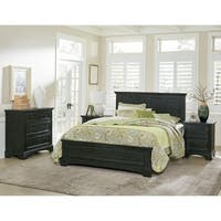 OSP Home Furnishings Farmhouse Basics Queen Bedroom Set with 2 Nightstands and 1 Chest