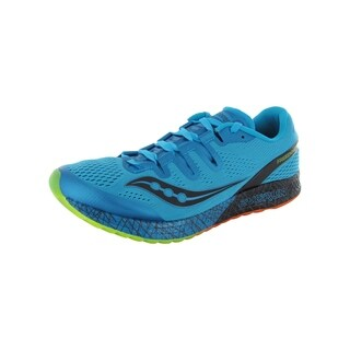 Saucony Mens Freedom ISO Running Sneaker Shoes, Blue/Black/Citron