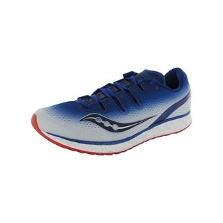 Saucony Mens Freedom ISO Running Sneaker Shoes, Blue/White