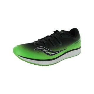 Saucony Mens Freedom ISO Running Sneaker Shoes, Slime/Black