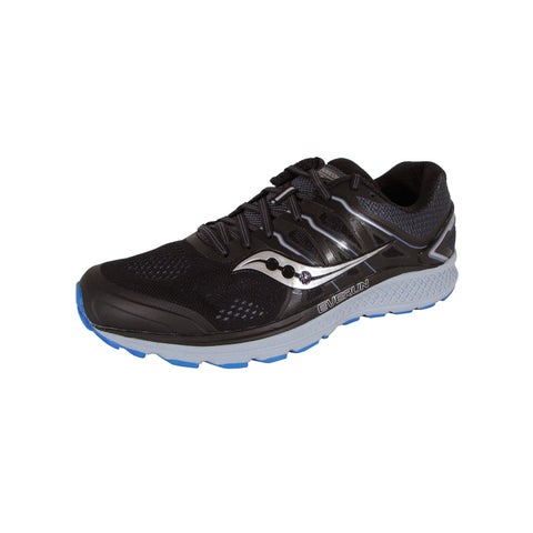 Saucony Mens Omni 16 Running Sneaker Shoes, Black/Grey/Blue
