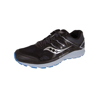 Saucony Mens Omni 16 Running Sneaker Shoes, Black/Grey/Blue