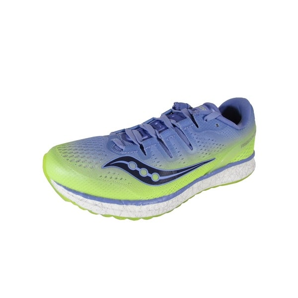 a78507cd Shop Saucony Womens Freedom ISO Running Sneaker Shoes, Purple/Citron ...