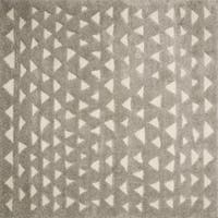 Moroccan Beige/ Taupe Geometric Square Shag Rug - 7'7 x 7'7