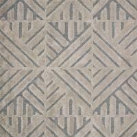 "Mid-century Modern Grey/ Taupe Geometric Square Shag Rug - 7'7"" x 7'7"""