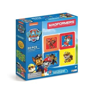 Magformers Paw Patrol 20 Piece Ready For Action Magnetic Construction Set