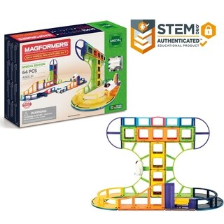 Magformers Sky Track Adventure 64 Piece Magnetic Construction Set