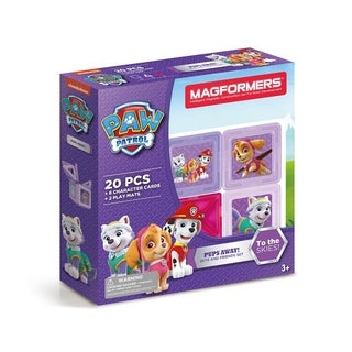 Magformers Paw Patrol 20 Piece Pups Away! Magnetic Construction Set