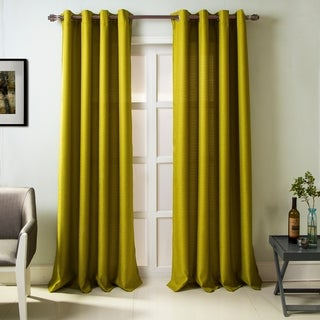 RT Designers Collection Madrid Textured 84-inch Grommet Single Curtain Panel