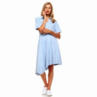 Morning Apple's Aretha Assymmetrical Shirt Dress