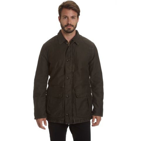 Excelled Men's Weekend Washed Cotton Barn Coat
