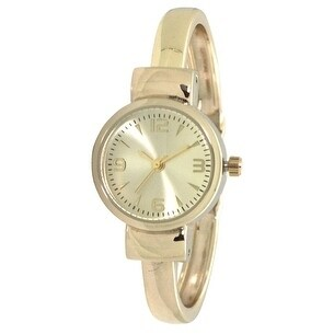 Olivia Pratt Petite Metal Cuff Watch - One size
