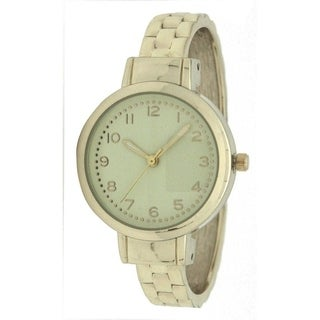 Olivia Pratt Faux Link Metal Cuff Watch - One size