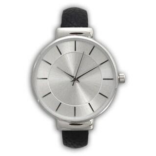 Olivia Pratt Simple Leather Cuff Watch - One size