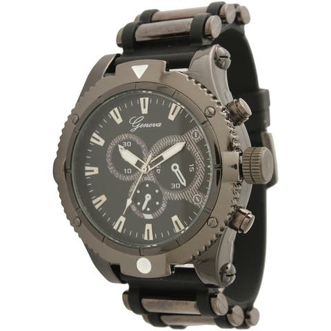 Olivia Pratt Unique Mens Sporty Silicone Watch - One size - One size