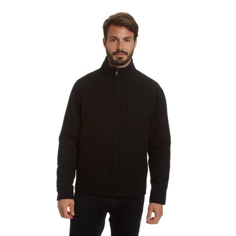 Excelled Men's Big and Tall Stretch Water Resistant Lightweight Wool Blend Jacket