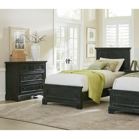 Farmhouse Basics Twin Bedroom Set with Nightstand and Chest