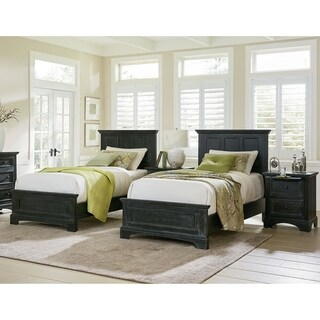 INSPIRED by Bassett Farmhouse Basics Double Twin Bedroom Set with 2 Nightstands