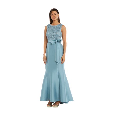 60d0fcf7763 RM Richards 3224 Slate Long Dress