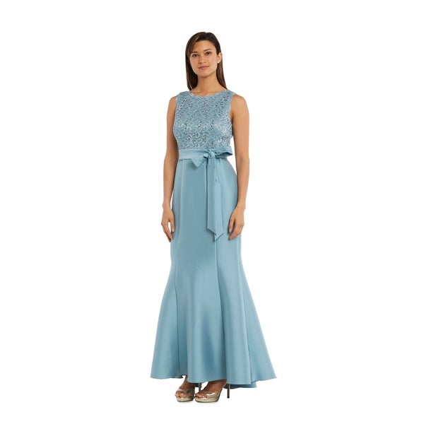 9081fb20d7f17 Shop RM Richards 3224 Slate Long Dress - Free Shipping Today - Overstock -  21145666