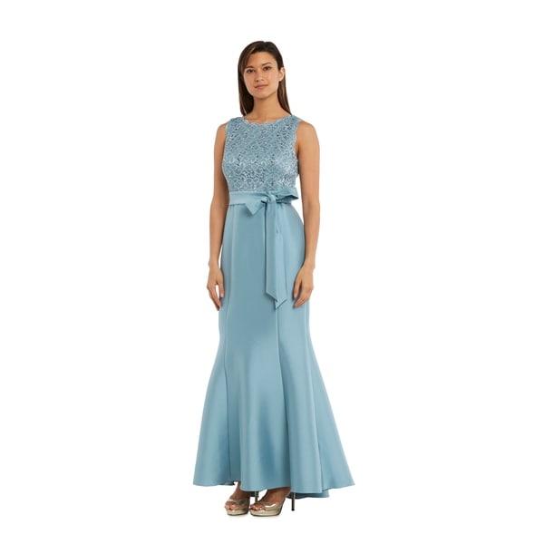 54af5699 Shop RM Richards 3224 Slate Long Dress - Free Shipping Today - Overstock -  21145666