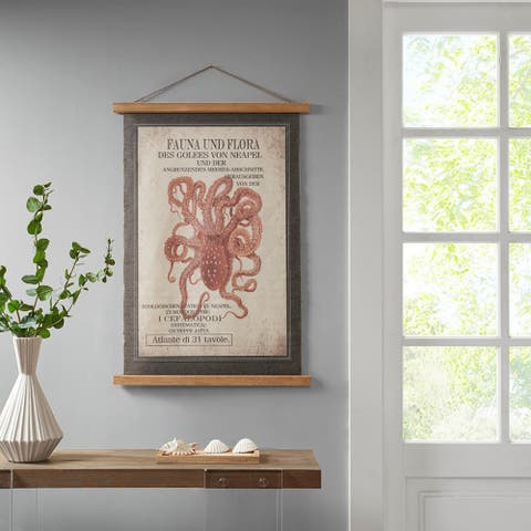 Madison Park Red Octopus Wall Art