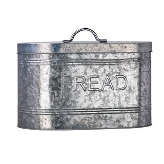 Rustic Kitchen Galvanized Metal Bread Storage Canister, 288 oz