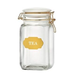 Sunrise Glass Hermetic Preserving Canisters, Tea, 54 oz
