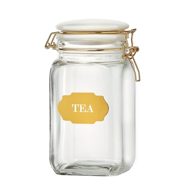 Sunrise Glass Hermetic Preserving Canisters, Tea, 54 oz