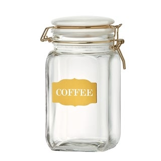Sunrise Glass Hermetic Preserving Canisters, Coffee, 54 oz