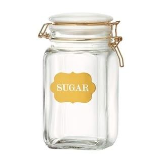 Sunrise Glass Hermetic Preserving Canisters, Sugar, 54 oz