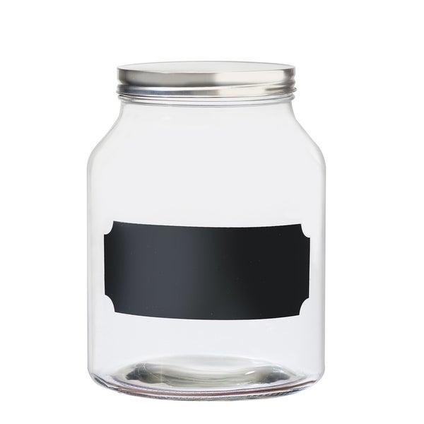 Venice Chalkboard Glass Canister, Medium, 96 oz