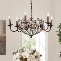 Latir Candelabra  Rustic Bronze 9-Light Crystal Chandelier