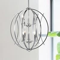 Carshon Chrome 6-Light Two-Tier Globe Pendant